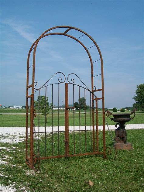 ironwork trellis wrought iron garden arch gate combination arbor trellis