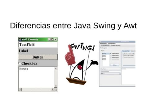 java swing awt diferencias swing y awt