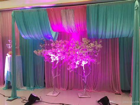wholesale xm rainbow color silk wedding backdrops
