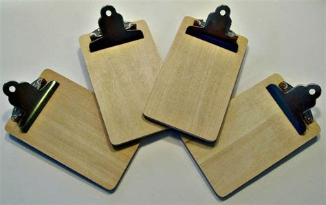 unfinished craft projects destash mini clipboards unfinished craft by lizziejoedesigns