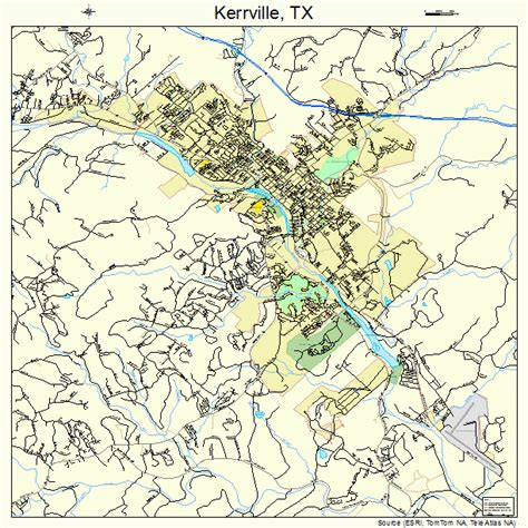 kerrville texas map kerrville texas map 4839040