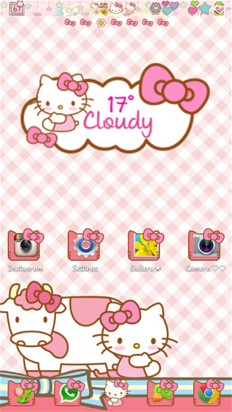 kitty themes for june pretty droid themes hello kitty v2 go launcher theme