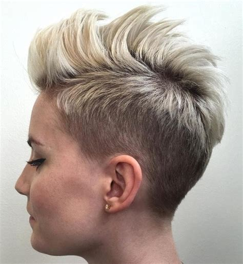 pixie cuts curly hair shaved aound neck and ears 50 women s undercut hairstyles to make a real statement