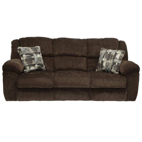 catnapper reclining sofa catnapper transformer fabric reclining sofa in chocolate