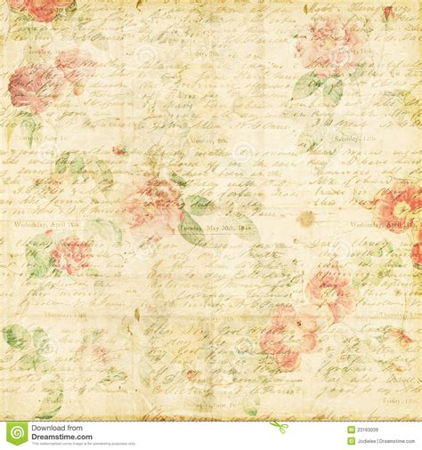 shabby chic vintage rose floral grungy background royalty