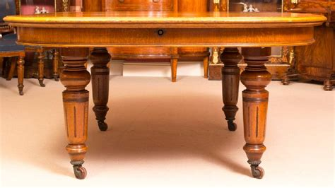 antique victorian oak dining table   chairs
