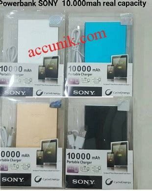 Power Bank Sony Murah jual power bank sony 10000mah powerbank real capacity 2 usb jual stungun kamera pengintai stun