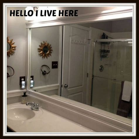 how to frame your bathroom mirror framing bathroom mirrors