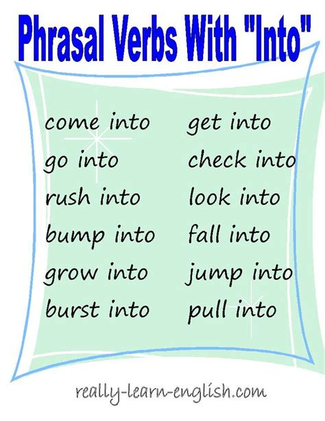 155 best images about phrasal verbs on verbs