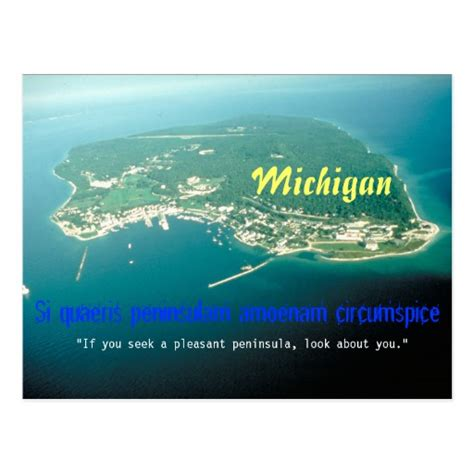 Home Front View Design Ideas michigan state motto postcard zazzle