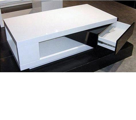 Black And White Coffee Table Dreamfurniture 5010c Modern White And Black Coffee Table
