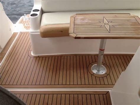 boat interior wood flooring boat interior synthetic teak flooring youtube