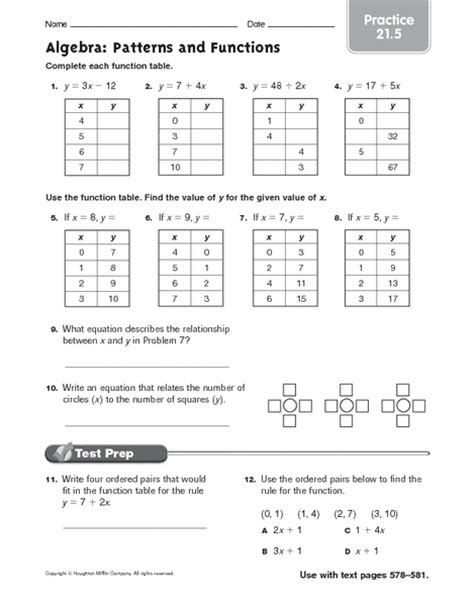 pattern practice worksheet algebra patterns with fractions worksheets ks2 mixed