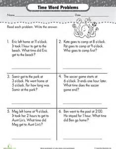 elapsed time word problems worksheets grade 2 time