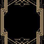 Great Gatsby Invitation Templates Blank Blank Great Gatsby Invitation Template