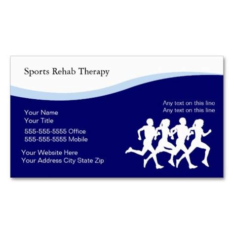 S Prts Business Cards Templates by Sports Physical Therapy Business Cards Fitness Trainer