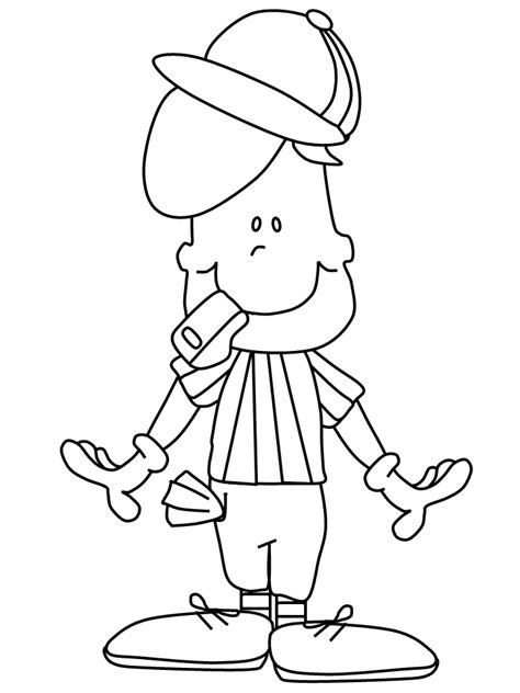 football referee coloring page football official free coloring pages