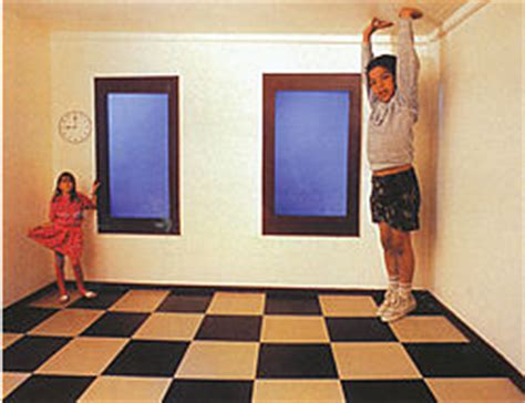 ames room illusion geometric optical illusions by al seckel