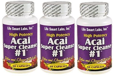 Smart Cleanse Detox by Acai Cleanse 1 Tm 3 Bottles Highly Potent 180