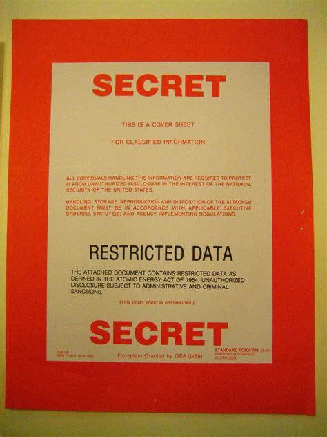 secretrestricted data cover sheet  cover sheet