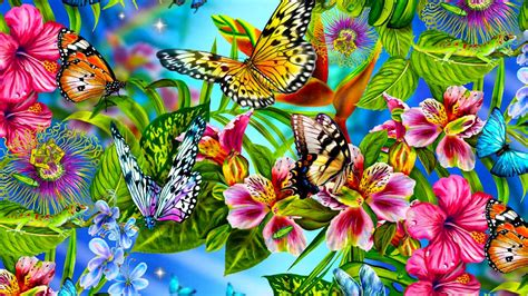 wallpaper flower and butterfly colorful butterfly hd wallpapers real artistic