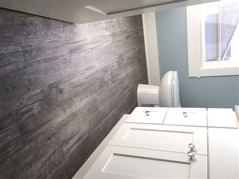 Bathroom hardwood floor, wood look tiles. Interior designs
