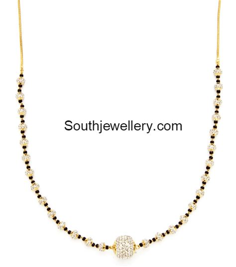 black chain designs black mangalsutra chains jewellery designs