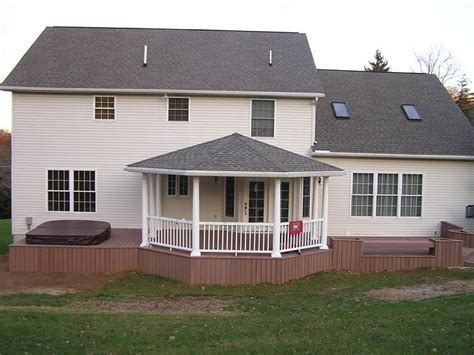 Front Porch Hip Roof Designs Back Deck Designs Open Porch With Hip Roof Covered
