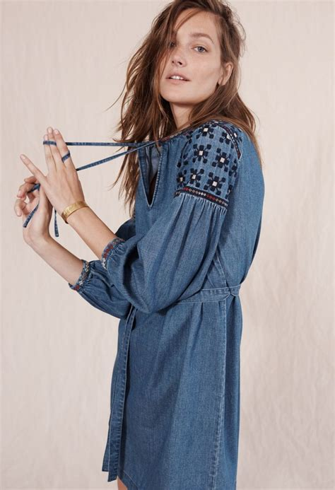 8 Clothes That In A Single Glance by Madewell Embroidered Denim Tealeaf Dress 12 Closet