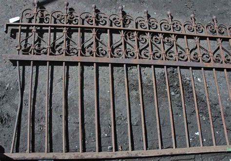 wrought iron fence sections antique wrought iron fence ornate 6 ft section olde