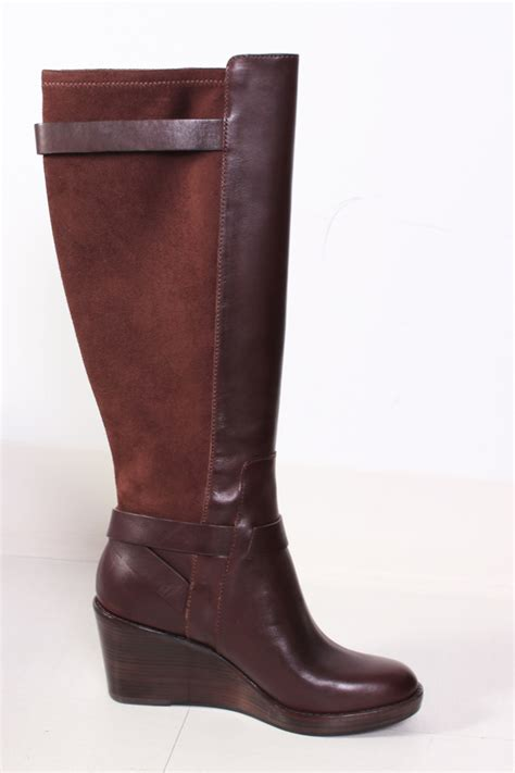 cole haan fulton wedge boot in chestnut brown 7 5