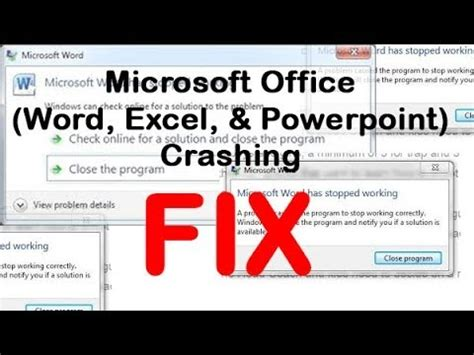 how to fix crashes in office 2016 for mac microsoft office word excel powerpoint crashing fix
