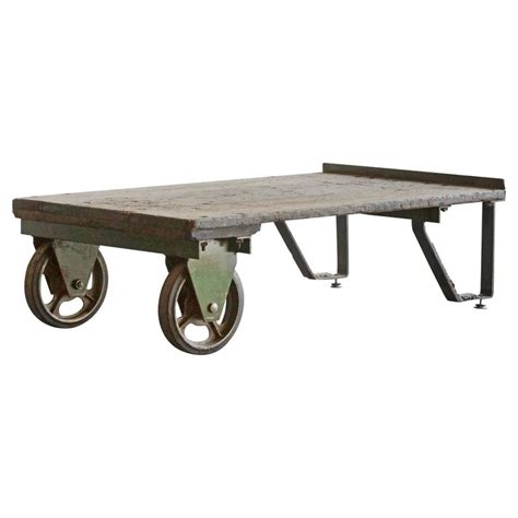 vintage industrial cart coffee table at 1stdibs