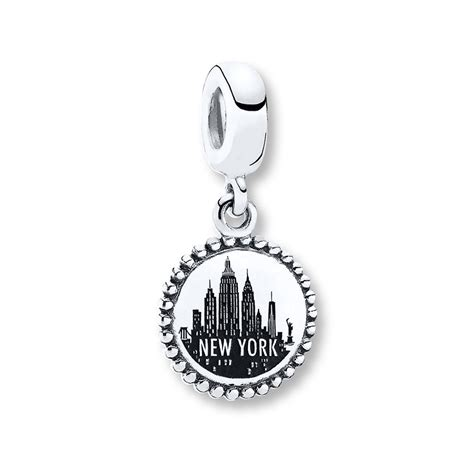 jared pandora dangle charm new york city sterling silver