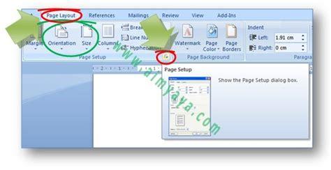cara membuat halaman word menjadi dua cara membagi satu kertas menjadi dua halaman di microsoft word