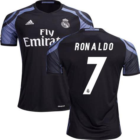 Jersey Bola 7 Ronaldo Real Madrid Third 17 18 Grade Ori Font Ucl cristiano ronaldo of adidas real madrid soccer jersey of 16 17 la liga