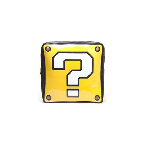 super mario question mark box printable nintendo question mark box shaped backpack for only c