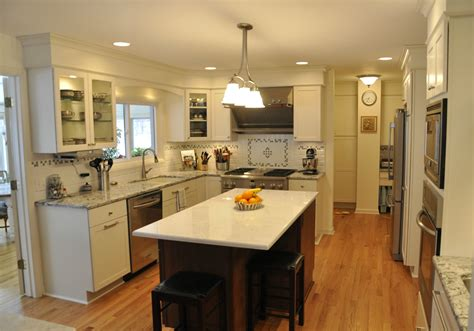 galley kitchen with island layout 847