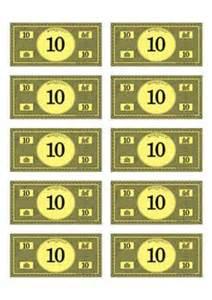 monopoly money 100 budget pinterest