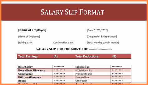 7 how to make a salary sheet in excel pdf salary slip