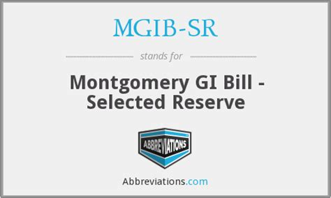 Using A Montgomery Gi Bill For Mba by Mgib Sr Montgomery Gi Bill Selected Reserve