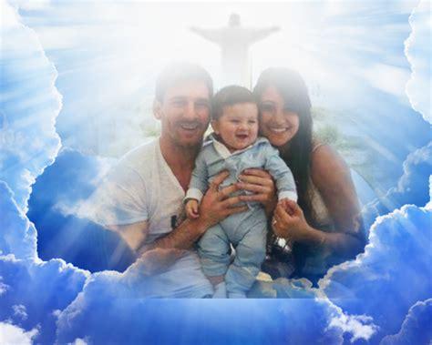 imagenes de lutos para personas fallecidas fotomontaje jesus en el cielo resucitado para pascua o