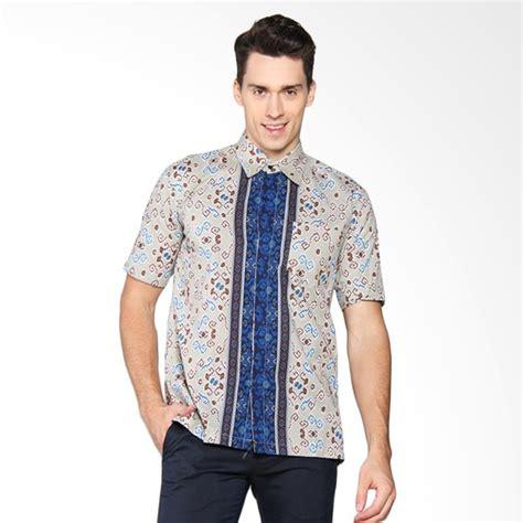 jual batik adikusuma hem batik t jepara kemeja pria biru