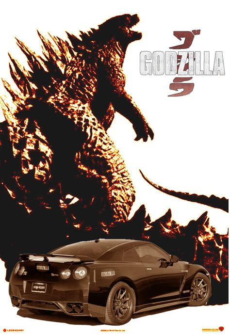nissan godzilla wallpaper godzilla x nissan gtr by vjump21848 on deviantart