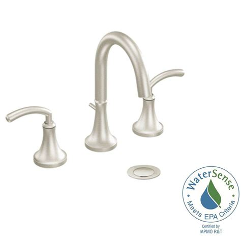 Moen Icon Bathroom Faucet Moen Icon 8 In Widespread 2 Handle High Arc Bathroom Faucet Trim Kit In Brushed Nickel Valve