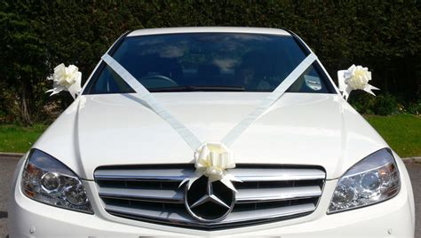 Wedding Car Decoration Uk by Ivory Wedding Car Decoration Kit Large Bows 7 Metres Of