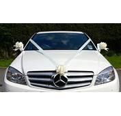 IVORY Wedding Car Decoration Kit Large Bows &amp 7 Metres Of