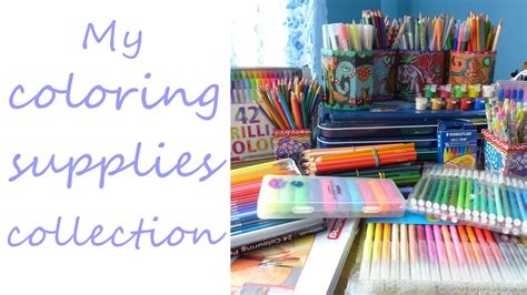 coloring supplies my coloring supplies collection