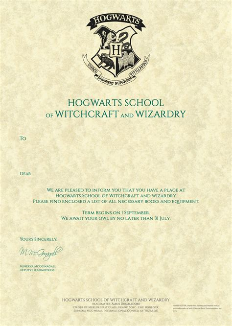 Hogwarts Acceptance Letter Template Microsoft Word Related Keywords Suggestions For Hogwarts Acceptance Letter Personalised
