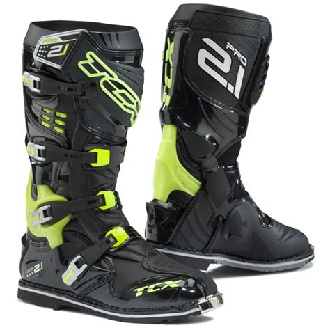 tcx pro 2 1 motocross boots tcx pro 2 1 boots black fluo yellow free uk delivery